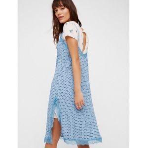 Free People Double Layered Polka Dot Slip Dress